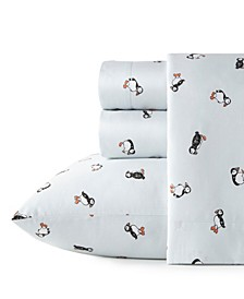 Puffin Paradise Queen Sheet Set