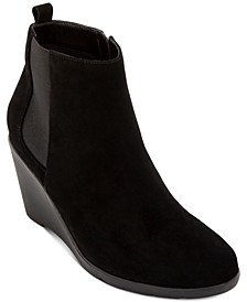 Leila Waterproof Wedge Booties, Created for Macy's