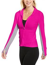 Honeycomb Zip-Front Jacket