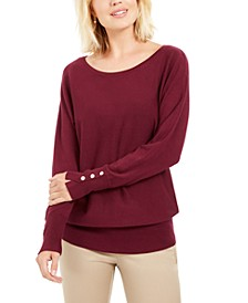 Studded Dolman-Sleeve Sweater, Created For Macy's