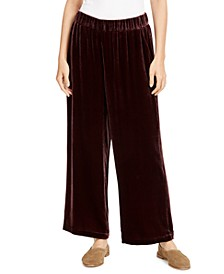 Wide-Leg Pull-On Pants