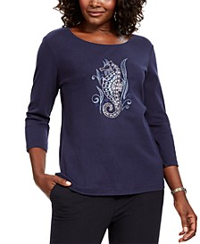 Embellished Seahorse Top, Created for Macy's