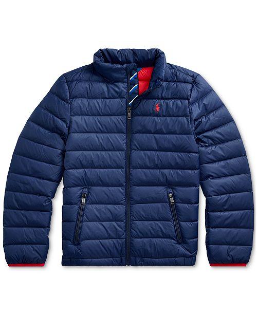 Details zu Polo Ralph Lauren Men Mockneck Lightweight Packable Puffer Down Jacket Gray
