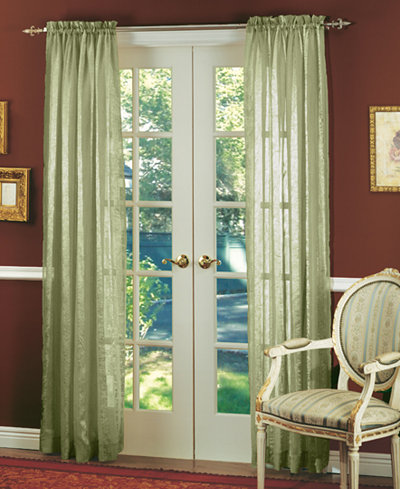 CLOSEOUT! Miller Curtains Sheer Striped Aria 51\\\