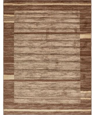 Jasia Jas11 Brown 9' x 12' Area Rug