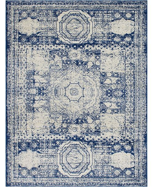 Bridgeport Home Mobley Mob2 Blue Area Rug Collection