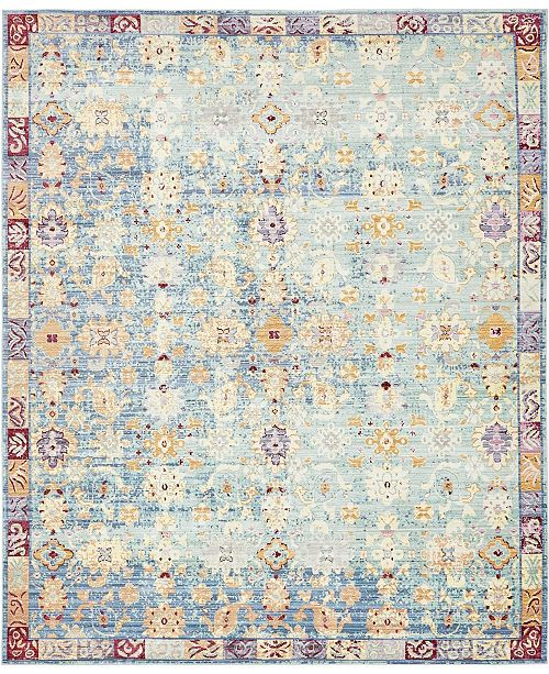 Bridgeport Home Malin Mal2 Blue Area Rug Collection