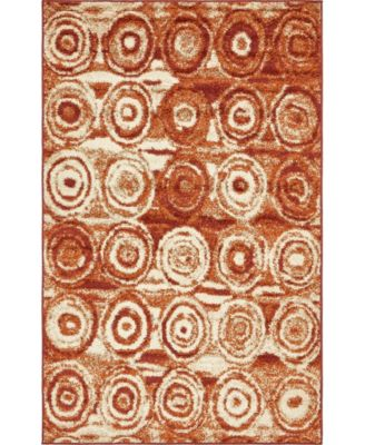 Jasia Jas02 Terracotta 9' x 12' Area Rug