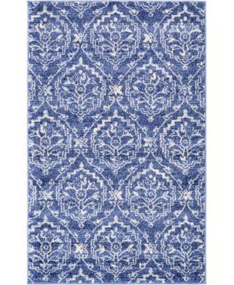 Felipe Fel1 Blue 5' x 8' Area Rug