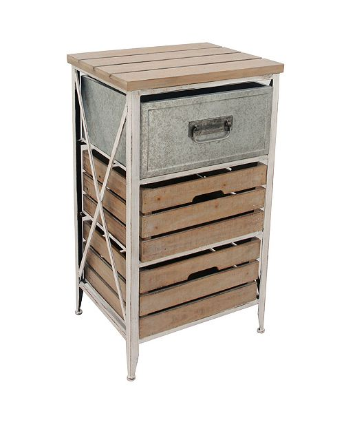 FIRSTIME & CO Maxwell Crates 3 Drawer Table