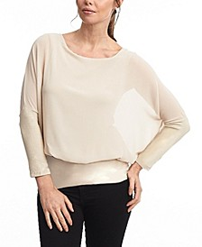 Dolman Long Sleeve Chiffon Blouse