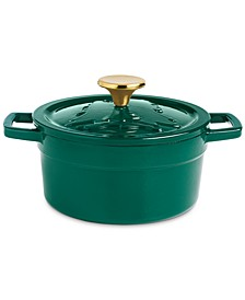 2-Qt. Green Embossed Enameled Cast Iron Dutch Oven, Created For Macy's