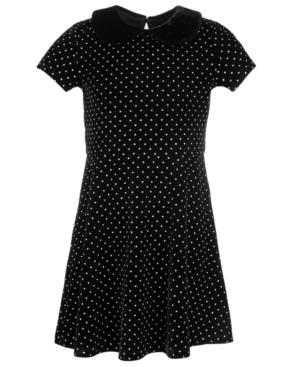 50s Girl Costumes, 50s Girl's Dresses Epic Threads Toddler Girls Velvet Collar Dress Created For Macys $36.00 AT vintagedancer.com
