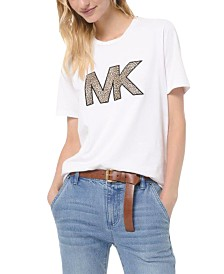 Michael Michael Kors Animal-Print Logo T-Shirt, in Regular and Petite