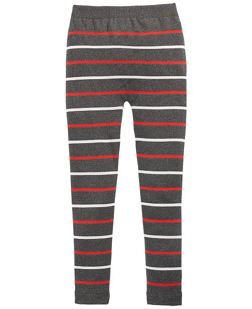 Epic Threads Big Girls Striped Cable Knit Leggings, Created For Macy's