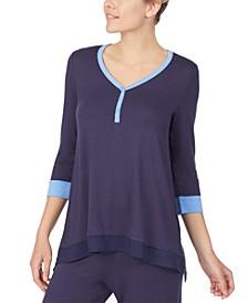 Colorblocked Pajama Top