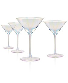 Artland Luster Clear Martini Glass - Set of 4