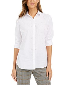 Faux-Pearl Shirt, Created for Macy's