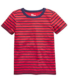 Little Boys Red Stripe T-Shirt, Created For Macy's