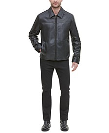 Men's Leather Jacket, Created for Macy's