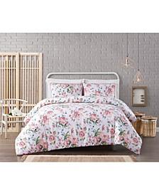 Cottage Classics Blooms Floral 3-Piece Duvet Set - Full/Queen