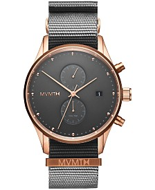 MVMT Men's Voyager Graphite Nylon Strap Watch 42mm