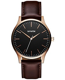 Men's The 40 Brown Leather Strap Watch 40mm
