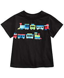 Baby Boys Cotton Train-Print T-Shirt, Created For Macy's