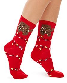 Women's Bear Lights Crew Socks, Created For Macy's