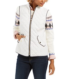 Quilted Stand-Collar Vest, Created for Macy's