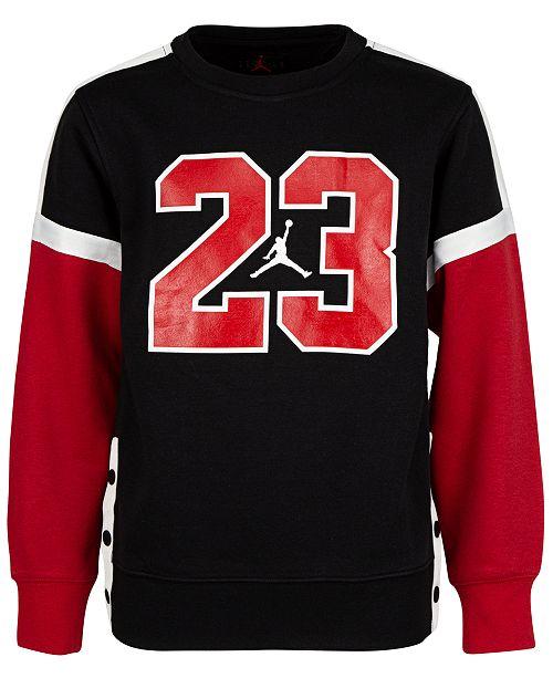 Jordan Big Boys 23 Fleece Snap Sweatshirt