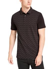 A|X Armani Exchange Men's Regular-Fit Logo Dot-Print Polo Shirt