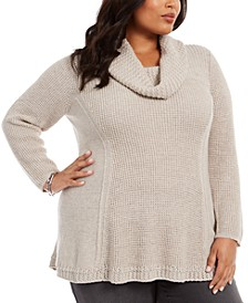 Plus Size Cowl-Neck Sweater, Created For Macy's