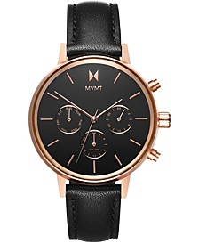 Women's Nova Vela Black Leather Strap Watch 38mm