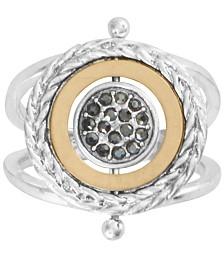 Lucky Brand Two-Tone Hematite-Pavé Reversible Ring