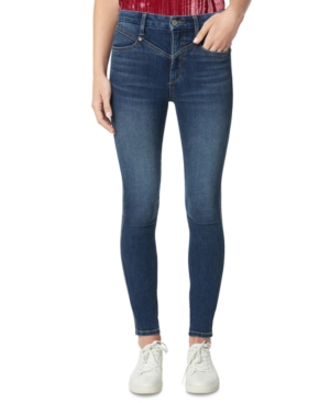 Not your average blue jeans! Joe\'s Jeans brings the drama with these high-waist skinny jeans, featuring a fun v-shaped front design to make things interesting.