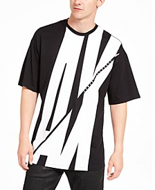 Men's Slashed Logo Graphic T-Shirt