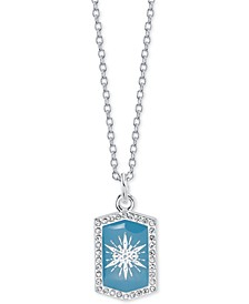 "Frozen 2 Snowflake Pendant Necklace in Fine Silver-Plate, 16"" + 2"" extender"