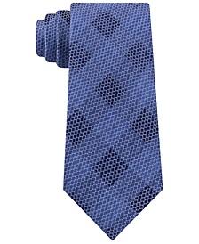 Men's Classic Mesh Check Silk Tie
