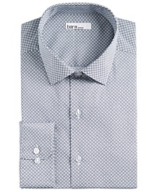 Men's Classic/Regular-Fit Performance Stretch Floral Tile-Print Dress Shirt, Created For Macy's