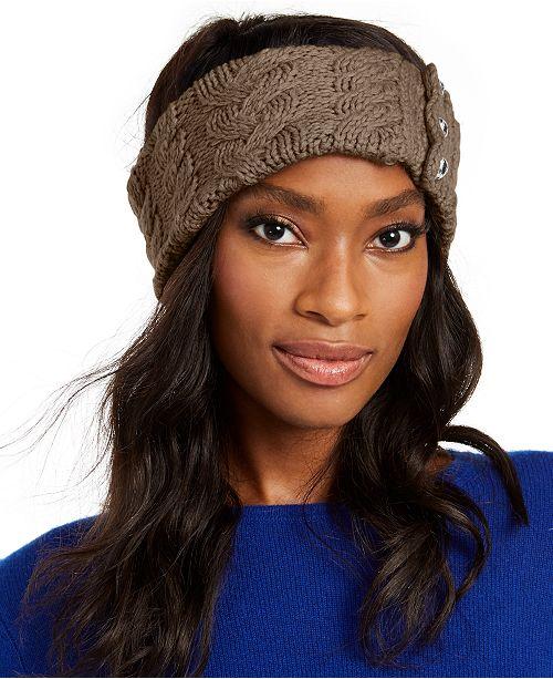Michael Kors Patchwork Cable-Knit Headband