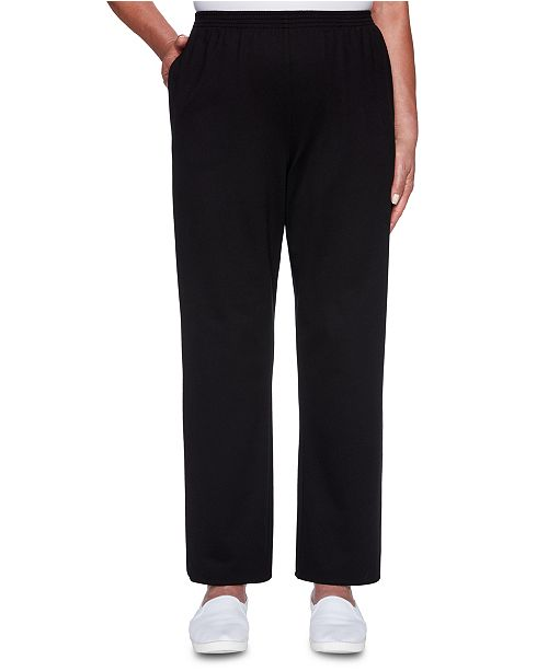 Alfred Dunner Well Red Proportioned Knit Pants