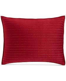 CLOSEOUT! Velvet Channel Stitch Standard Sham, Created for Macy's