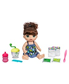 Baby Alive Sweet Spoonfuls Brown Curly Hair Baby Doll Girl