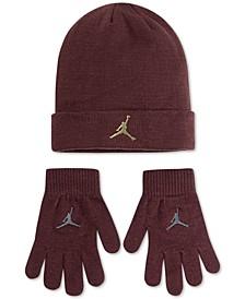 Big Boys 2-Pc. Metallic Jumpman Beanie & Gloves Set