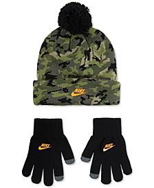 Big Boys 2-Pc. Futura Camo-Print Beanie & Gloves Set