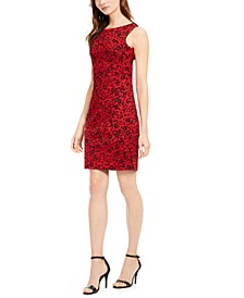Petite Printed Sheath Dress