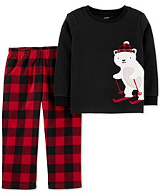 Toddler Boys 2-Pc. Fleece Polar Bear Pajamas Set