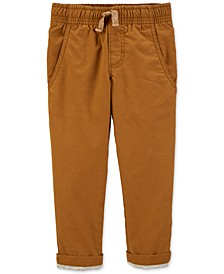Baby Boys Jersey-Lined Khaki Pants