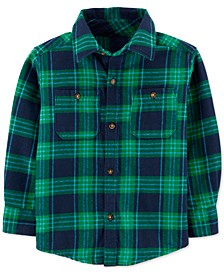 Baby Boys Cotton Flannel Plaid Shirt